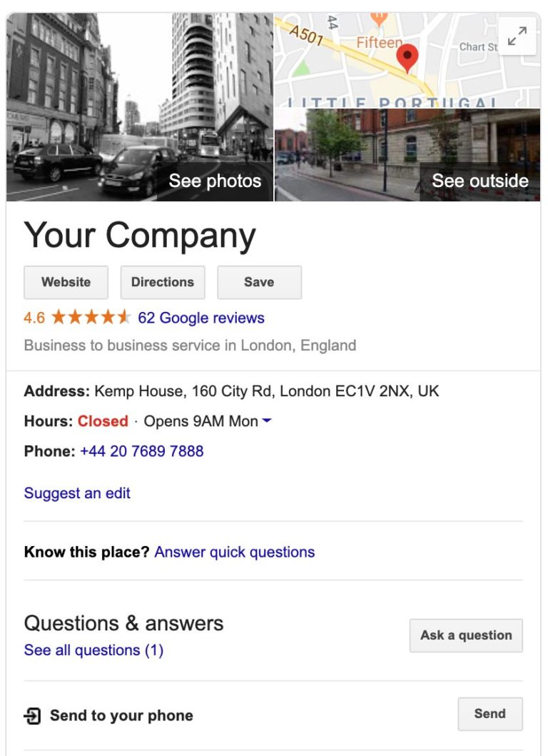 google business example 2